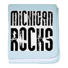 Michigan Rocks baby blanket