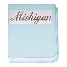 Vintage Michigan baby blanket
