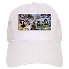 """Travel Addict"" PhotoSplash Baseball Cap"
