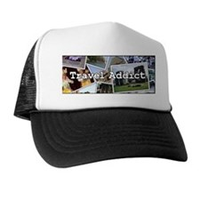 """Travel Addict"" PhotoSplash Trucker Hat"