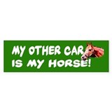 My Other Car is My Horse Bumper Bumper Sticker