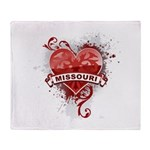 Heart Missouri Throw Blanket