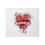 Heart Missouri Throw Blanket