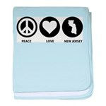 Peace Love New Jersey baby blanket