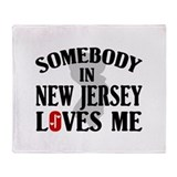 Somebody In New Jersey Throw Blanket