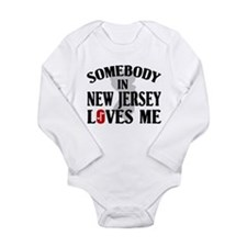 Somebody In New Jersey Long Sleeve Infant Bodysuit