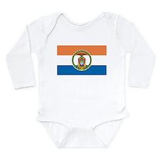 Bronx Flag Long Sleeve Infant Bodysuit