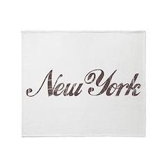 Vintage New York Throw Blanket