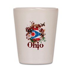 Butterfly Ohio Shot Glass