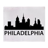 Philadelphia Skyline Throw Blanket