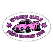 Wicked Girls Drive Wicked Toy Oval Decal