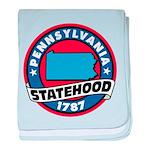 Pennsylvania Statehood baby blanket