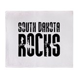 South Dakota Rocks Throw Blanket