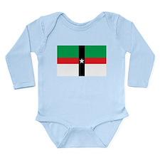 Denison Flag Long Sleeve Infant Bodysuit