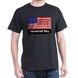 John 15:13 Memorial Day Black T-Shirt
