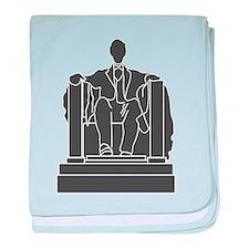 Lincoln Memorial baby blanket