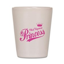 West Virginia Princess Shot Glass