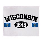 Wisconsin 1848 Throw Blanket