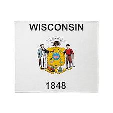 Wisconsin 1848 Throw Blanket