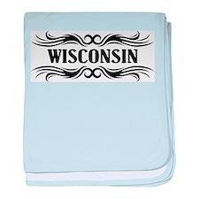 Tribal Wisconsin baby blanket