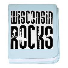 Wisconsin Rocks baby blanket