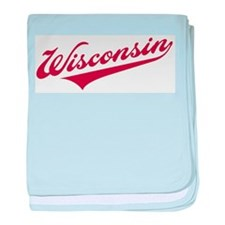 Retro Wisconsin baby blanket
