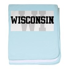 WI Wisconsin baby blanket