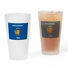 Wisconsin Flag Pint Glass