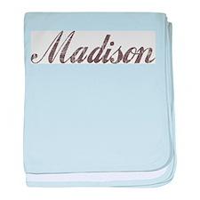 Vintage Madison baby blanket