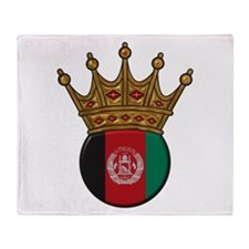 King Of Afghanistan Throw Blanket