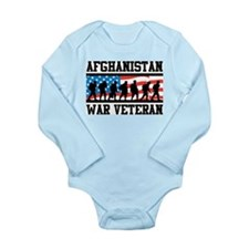 Afghanistan War Veteran Long Sleeve Infant Bodysui