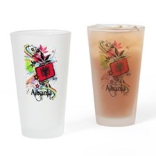 Flower Albania Pint Glass