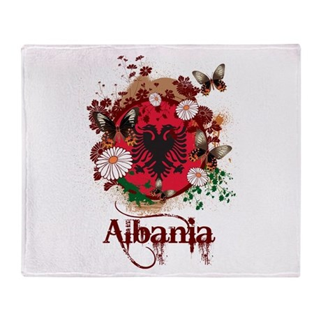 Butterfly Albania Throw Blanket