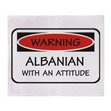 Attitude Albanian Throw Blanket