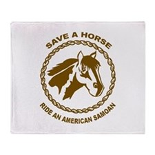 Ride An American Samoan Throw Blanket