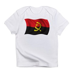 Wavy Angola Flag Infant T-Shirt
