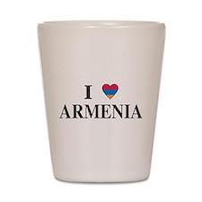 I Heart Armenia Shot Glass