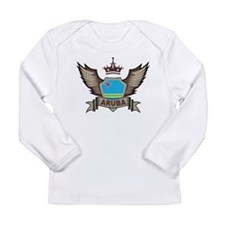 Aruba Emblem Long Sleeve Infant T-Shirt
