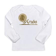 Palm Tree Aruba Long Sleeve Infant T-Shirt