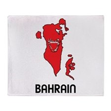 Map Of Bahrain Throw Blanket