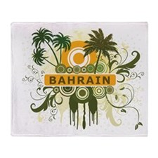 Palm Tree Bahrain Throw Blanket