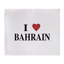 I Love Bahrain Throw Blanket