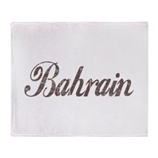 Vintage Bahrain Throw Blanket