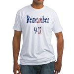 USA - Remember 9-11 Fitted T-Shirt