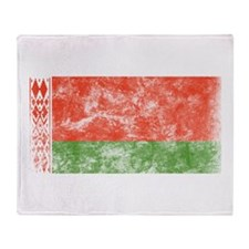 Vintage Belarus Flag Throw Blanket