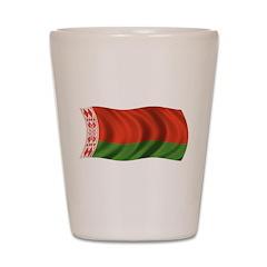Wavy Belarus Flag Shot Glass