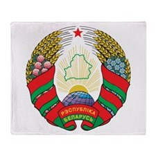 Belarus Coat Of Arms Throw Blanket