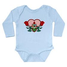 Heart Bermuda Long Sleeve Infant Bodysuit