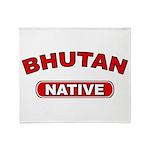 Bhutan Native Throw Blanket