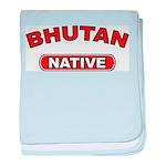 Bhutan Native baby blanket